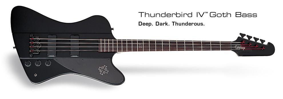 Epiphone Goth Thunderbird IV Bass
