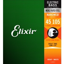 Elixir 14087 Nanoweb® Bass Light/Medium Extra Long. 45-105