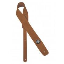 Gaucho GST-610-LBR Padded Suede Series guitar strap, light brown suede top, light brown suede back