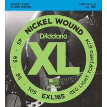 D'addario EXL165 Custom Light/Long Scale basstrenger 045-105.