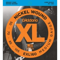 D'addario EXL160 Medium/Long Scale basstrenger 050-105.