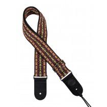 "Gaucho GST-184-05 Traditional Series guitar strap, 2"" jacquard weave, multi colours"