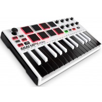 Akai MPK Mini Mk2 Ltd. Ed. White - MIDI-keyboard med 25 tangenter