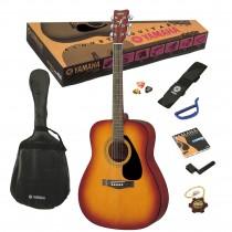Yamaha F310 Tobacco Sunburst - Pakke med bag, reim, stemmefløyte, strengesett, strengesveiv, capo og plekter!