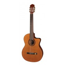 Salvador Cortez CC-22CE Solid Top Artist Series classic guitar, solid cedar top, sapele back and sides, Fishman ISY-201 electronics, cutaway