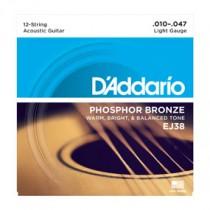 D'Addario EJ38 - Strengesett til 12-strenger (010-047)