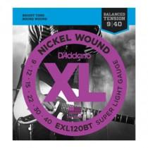 D'Addario EXL120BT BalTen El. gitar strenger (009-040)