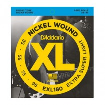 D'Addario EXL180 Nickel Wound Bass, Extra Super Light, 35-95, Long Scale