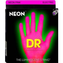 DR Neon Pink Electric - Strengesett for el.gitar. Lyser rosa under UV-lys (10-46)