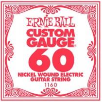 Ernie Ball Nickel Wound Single Electric Strings, .060 (3-pack)