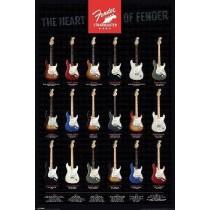 """Fender """"Stratocaster, The Heart of Fender"""" Plakat"""
