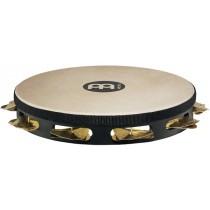 Meinl STAH-1-B-BK Wood Tamburin m/Skinn, Dry, Brass, Enkel