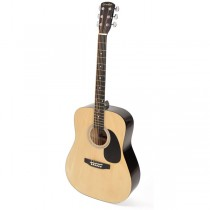 Grimshaw GSD-20-NT dreadnought guitar, blackened hardwood fb and bridge, with open mh, natural