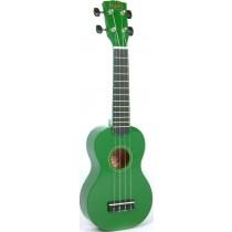 Korala UKS-30-GN soprano ukulele with guitar machine heads, with bag, green