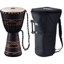 "Meinl ADJ4-M+BAG African Djembe, Medium m/Bag (10"") Black (G)"