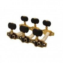 Salvador Cortez MH097GK-A1B genuine replacement part set of machine heads 3L3R, gold with black pegs, for model 80, 90, 110, 13