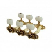 Salvador Cortez MH097GK-A1W genuine replacement part set of machine heads 3L3R, gold with pearloid pegs, for model 60, 120, 140