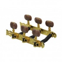 Salvador Cortez MH102G-A1R genuine replacement part set of machine heads 3L3R, gold with amber pegs, for model 10, 22, 25, 32