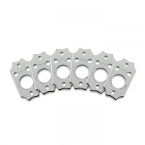 Graph Tech PRT-952-213-C0 Premium Plates For Gibson Style Screw Hole - Chrome