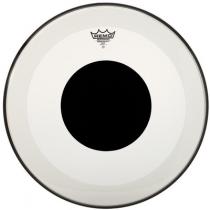 """Remo Heads P3-1120-10 Powerstroke Coated Black Dot 20"""" Basstrommeskinn"""
