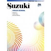 Suzuki Violin School Volum 2 - Violin part - Revidert utgave m/cd