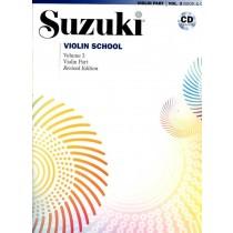 Suzuki Violin School Volum 3 - Violin part - Revidert utgave m/cd