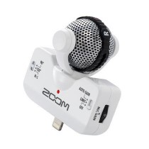 Zoom IQ-5 hvit mikrofon for iPhone5