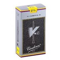 Vandoren V12 CR1925 - 10 stk NR.2 1/2 flis/rør til klarinett Bb