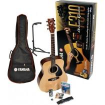 Yamaha F310 Performance pack - Gitarpakke med reim, DVD-kurs, tuner, ekstra strenger, stativ og bag