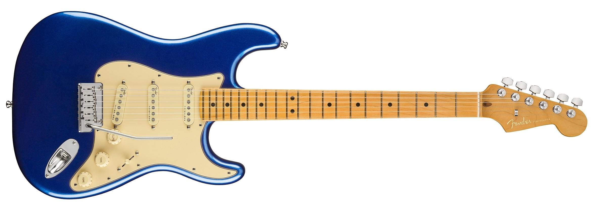 Fender American Ultra Stratocaster - Cobra Blue - Maple