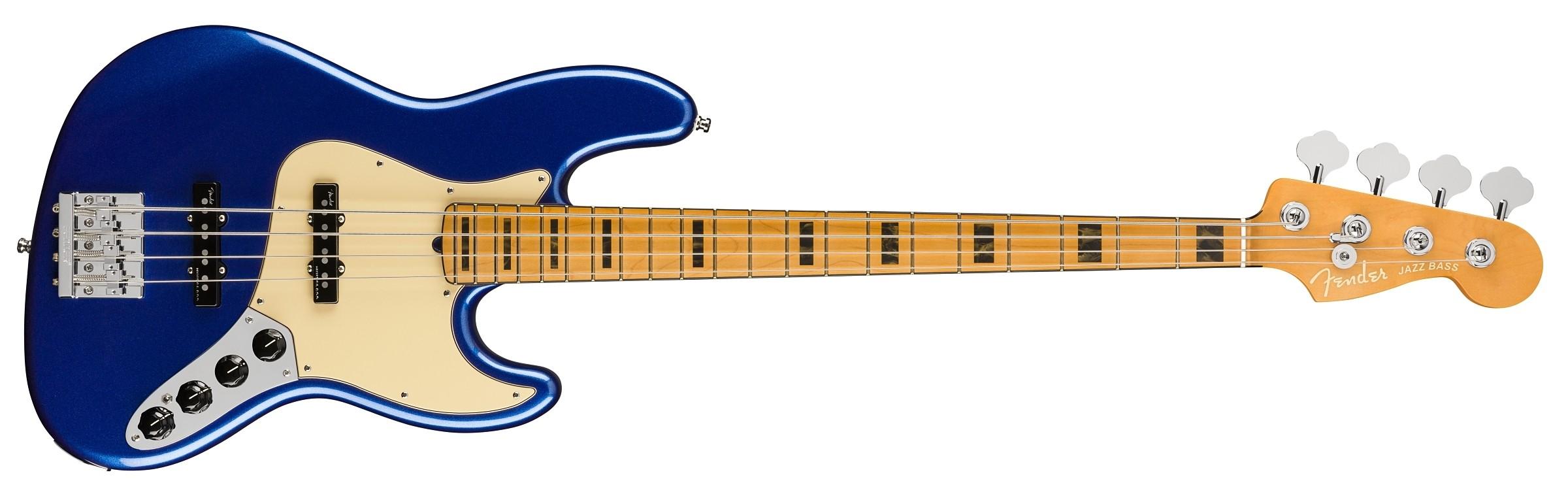 Fender American Ultra Jazz Bass - Cobra Blue - Maple
