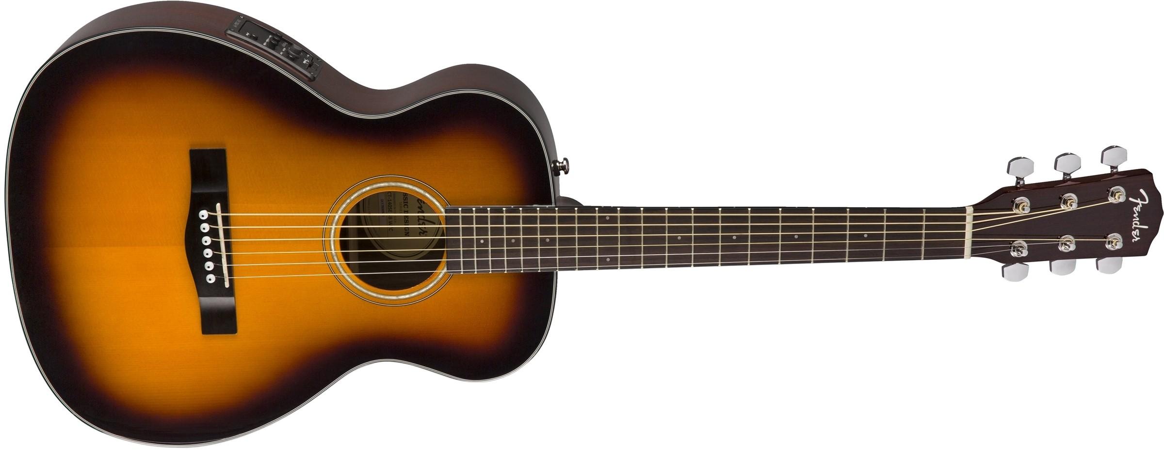 Fender CT-140SE akustisk travel gitar - Sunburst