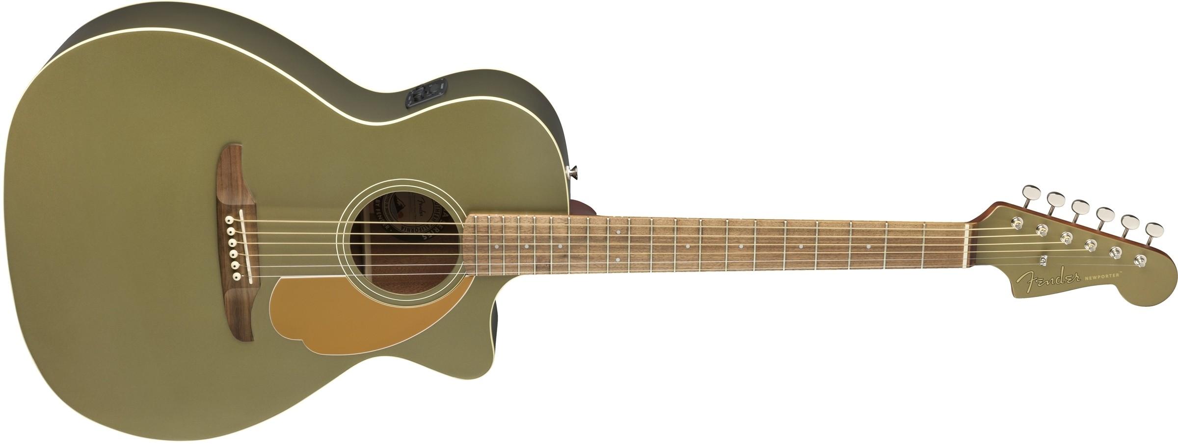 Fender Newporter Player - Olive Satin