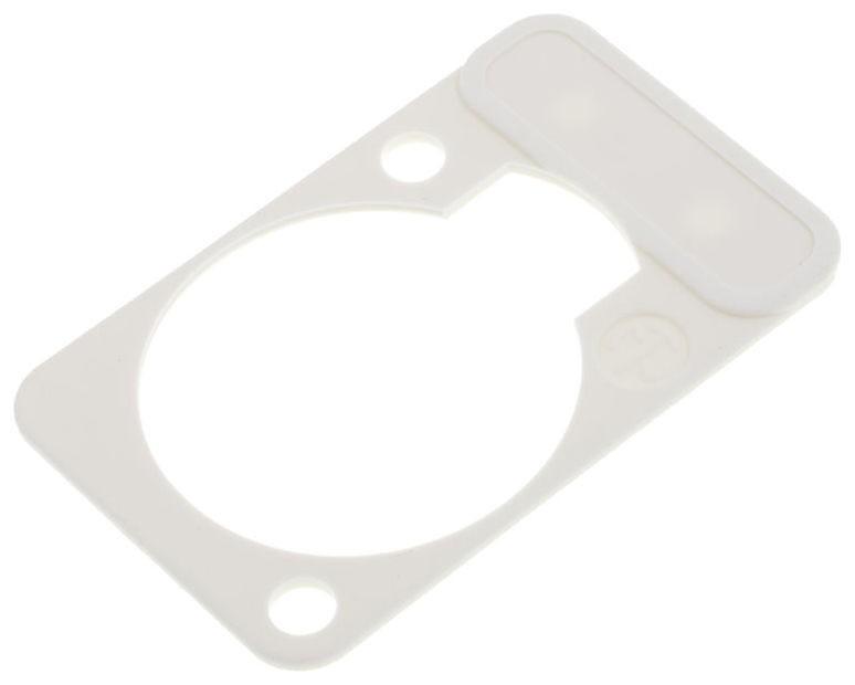 Neutrik DSSHVIT - Merkeplate til D-chassis