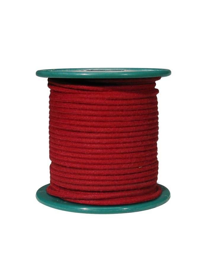 Boston VCC-18R-RD cloth covered wire, rød, pris pr. halvmeter