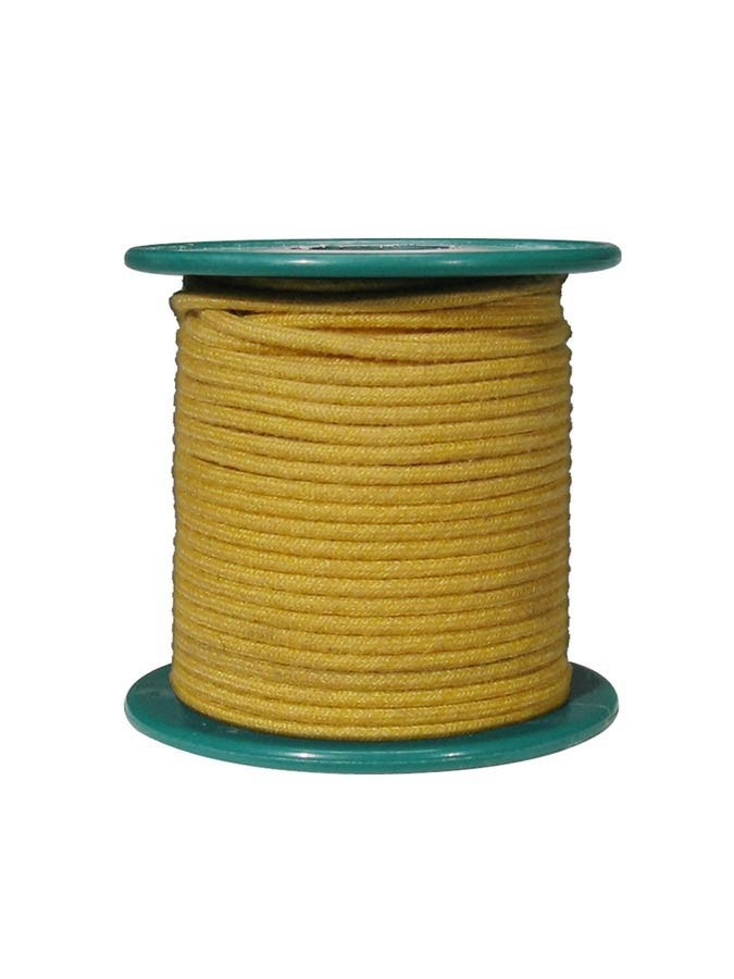 Boston VCC-18R-YE  cloth covered wire, gul, pris pr. halvmeter