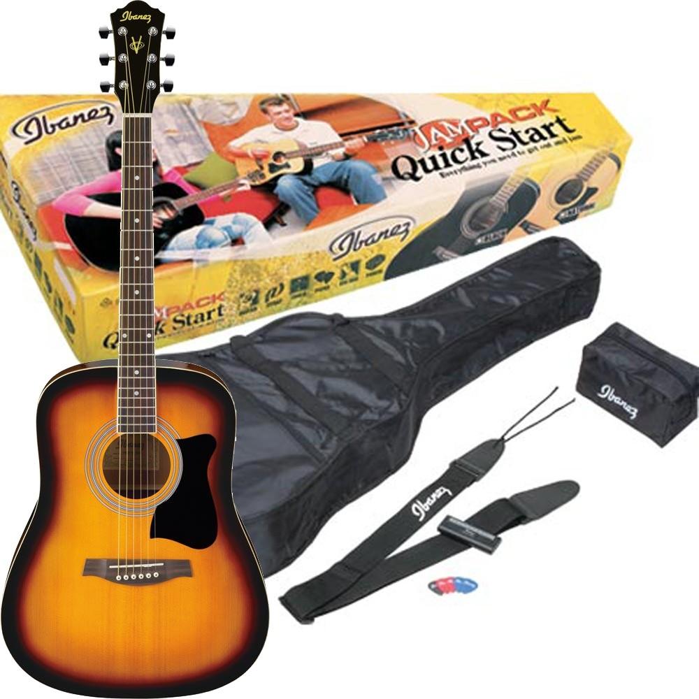 Ibanez V50NJP-VS Jampack - Gitarpakke - Vintage sunburst