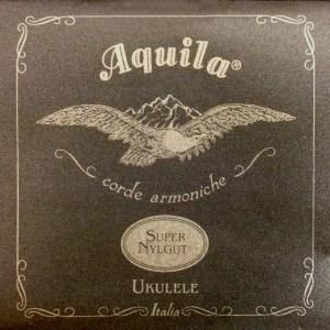 AQUILA CONCERT 103U UKULELE SUPER NYLGUT key of C - GCEA REGULAR SET high G - Strengesett til Ukulele.