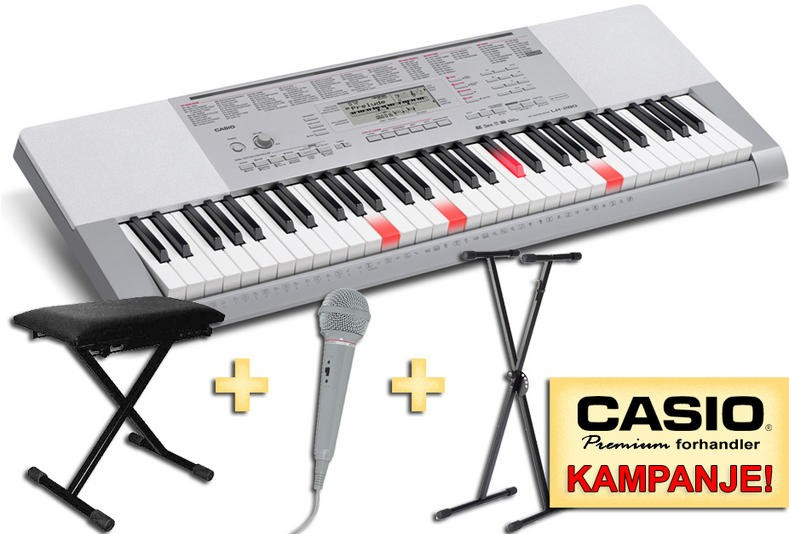 Casio LK 280 Totalpakke inkl stativ, krakk og mikrofon