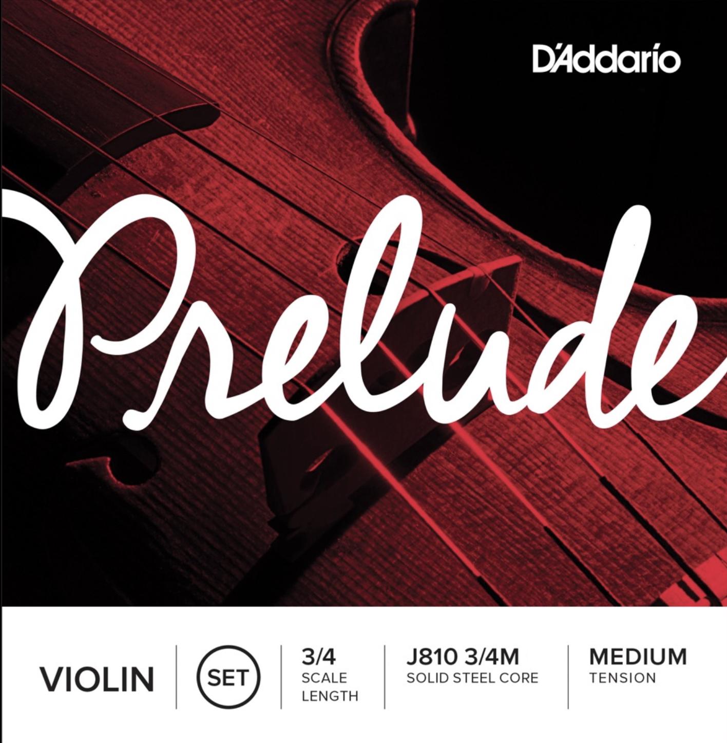 D'Addario J810 3/4M strengesett til fiolin 3/4 - Medium tension