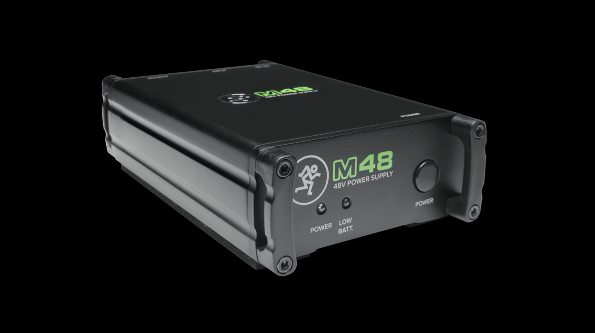 Mackie 48v Phantom power supply.