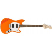Squier FSR Bullet Competition Mustang HH Competition Orange, Fiesta Red Stripes