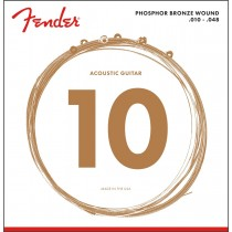 Fender 60XL Phosphor Bronze Acoustic Guitar Strings .010-.048