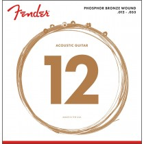 Fender 60L Phosphor Bronze Acoustic Guitar Strings .012-.053