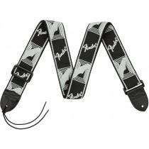"""Fender 2"""" Monogrammed Straps - Black/Light Grey/Dark Grey - Gitarreim"""