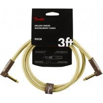 Fender Deluxe Series Instrument Cable, Tweed - 91 cm patchkabel