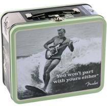 Fender Lunchbox med strengesett, strengesveiv, plekter og stemmemaskin