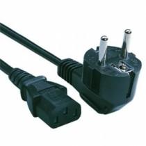Strømkabel / eurokabel - 250v/16A - ca. 1,8m - Vinklet schuko
