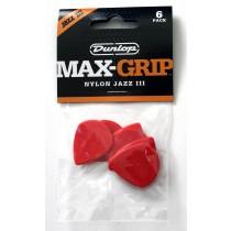 Dunlop Max-Grip Jazz III 471P3N Plekter 6 stk