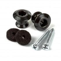 Dunlop 2PSLS033BK Straplok Dual Design Button Set - Svart
